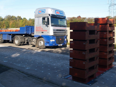 Axtec Dynamic Axle Weighbridge Deadweight Test