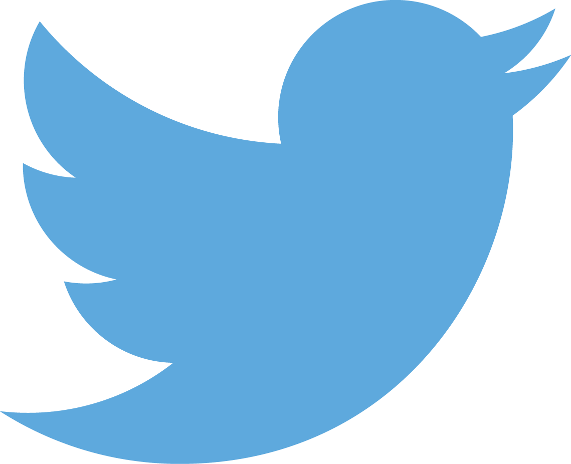 image of the Twitter logo which is a blue bird